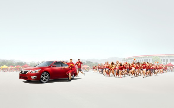 Nissan Football Gatefold V22 587x366 Nissan Heisman for TBWA Chiat Day L.A