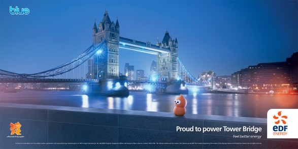 Tower Bridge 48 Sheet 587x293 New EDF campaign