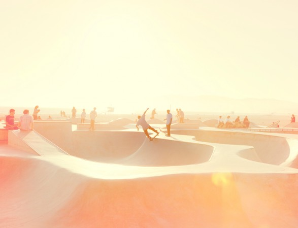 Venice Skate Park crop wip 587x449 Skaters, Venice.